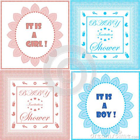 Newborn Baby Card Template Free by Baby Shower Invitation Card Template Set Boy And