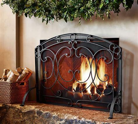 aspen fireplace single screen pottery barn