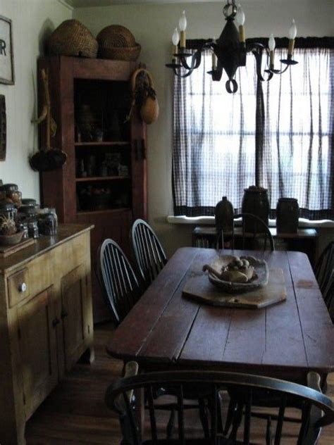 17 best ideas about primitive dining rooms on