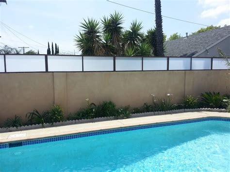 Plexiglass Fence Plexiglass Fences Modern Exterior Los Angeles By