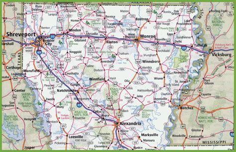 louisiana map and cities map of northern louisiana