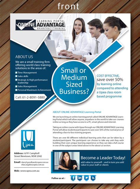 design flyers online australia modern professional flyer design for upea by sbss