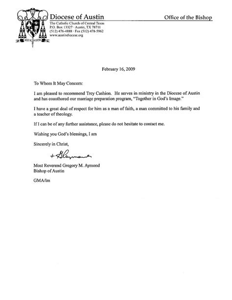 College Letter Of Recommendation From A Pastor sle recommendation letter for student from pastor