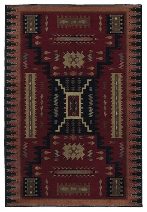 southwestern rug runners southwestern lodge accents hallway runner 1 11 quot x7 6 quot runner garnet area rug rustic and