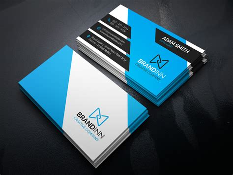blue card template creative corporate business card design www pixshark