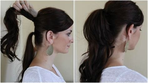 hairstyles to wear at home easy hairstyles for work for medium or long hair hair