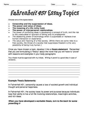 Fahrenheit 451 Essay Topics by Fillable Pkwy K12 Mo Fahrenheit 451 Essay Topics Parkway C 2 Home Page Pkwy K12 Mo