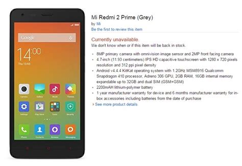 download themes for xiaomi redmi 2 prime xiaomi redmi 2 prime specifications briefly appears on amazon
