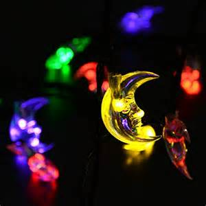 Led christmas lights 20ft 30 led moon string lights for outdoor