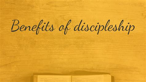 benefits of discipleship faithlife sermons