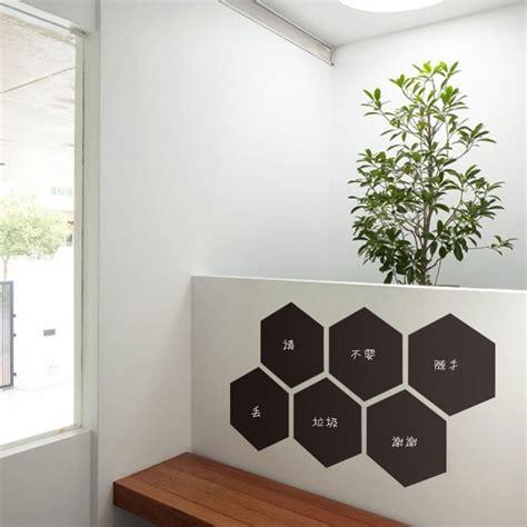 home office wall decor templates aliexpress com buy hexagon home decoration blackboard