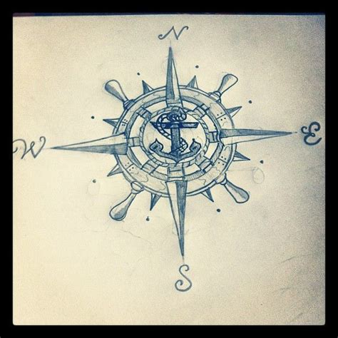 compass tattoo template 14 best vintage compass and anchor tattoo images on