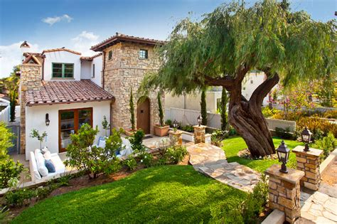 Outdoor Pub Style Patio Furniture Italian Villa Mediterranean Landscape Los Angeles