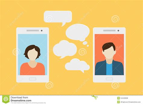 free mobile chat mobile phone chat stock vector image 54440608