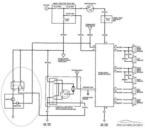 power antenna wiring diagram electric car aerial wiring