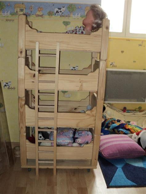 lits superpos 233 s pour poupons par regis sur l air du bois