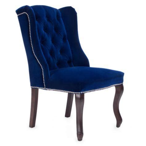 Ultra Tall Mod Wing Dining Chair in Royal Blue Velvet I