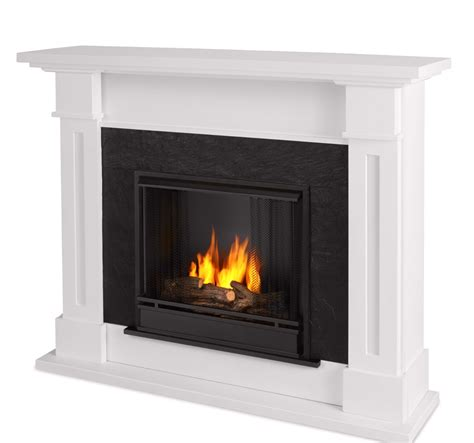 White Ventless Fireplace by Kipling Ventless Gel Fuel Fireplace In White With Cast