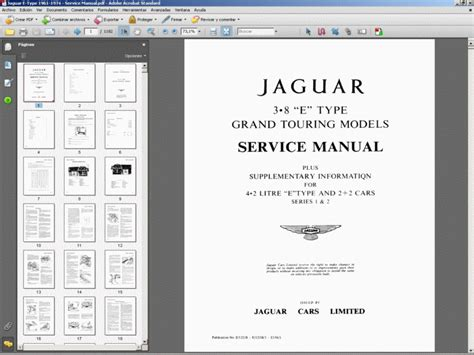 jaguar e type 1961 1974 service manual