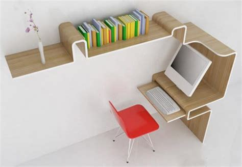 Space Saving Office Desk Space Saving Furniture Home Office Desk Storage Idea