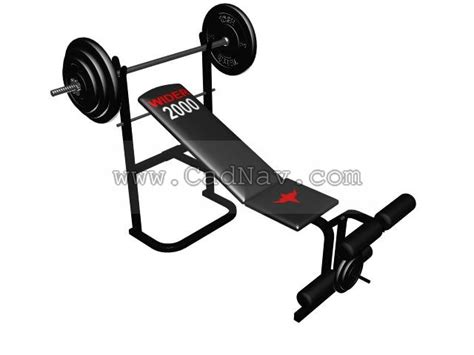 modells weight bench multi adjustable weight bench 3d model 3ds max files free