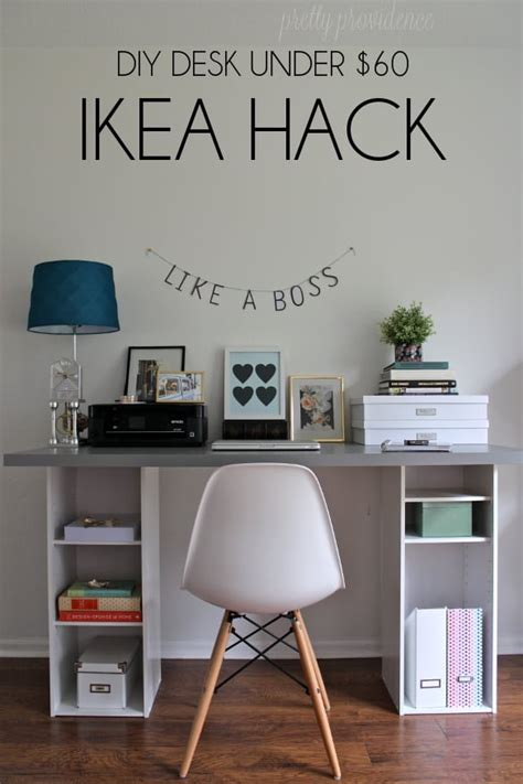 ikea desk hack ikea hack desk diy for under 60