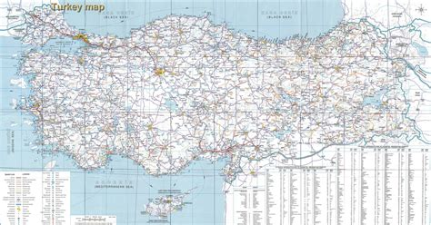 road map directions high resolution detailed road map of turkey turkey high