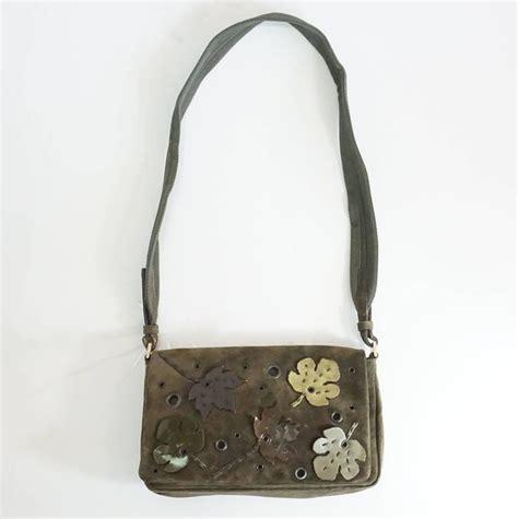 Fall Handbag Sale by Prada Olive Suede Fall Leaves Shoulder Bag For Sale At 1stdibs