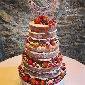 Edible Arrangements naked wedding cake by rosie shaw bristol