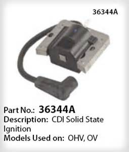 Ignition Part No 5520 Tecumseh Ignition Coil Part No 36344a