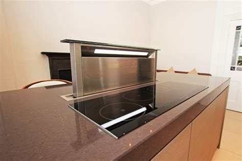 kitchen island downdraft extractor contemporary london
