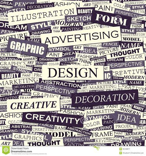 graphics design words design royalty free stock photography image 35108877