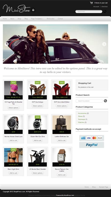 blogger ecommerce themes ministore free ecommerce wordpress theme