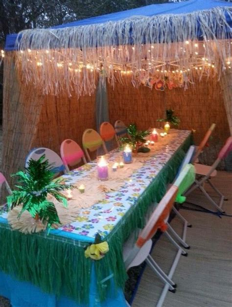 luau backyard party ideas 25 best ideas about luau table decorations on pinterest