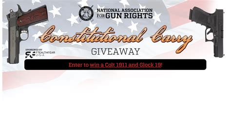 Gun Giveaway Contest - gun giveaways and contests defend and carry