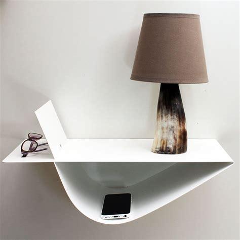 etagere table de nuit chevet suspendu design quot zen quot blanc chevet mural gauche