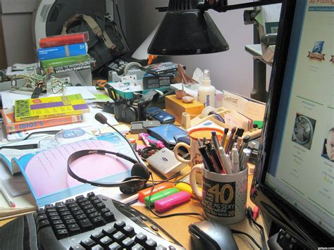 Cluttered Desk by Why Is Desk Always Cluttered