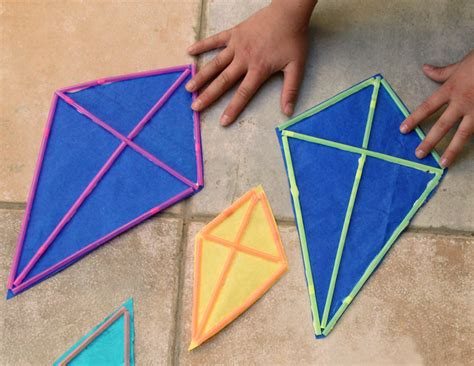 How To Make A Paper Kite - make kite with straws images