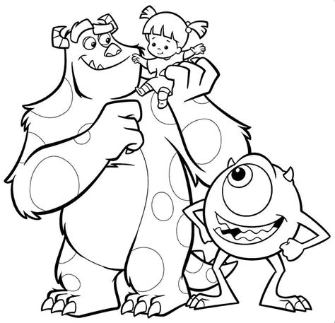 monsters inc coloring pages coloringsuite com