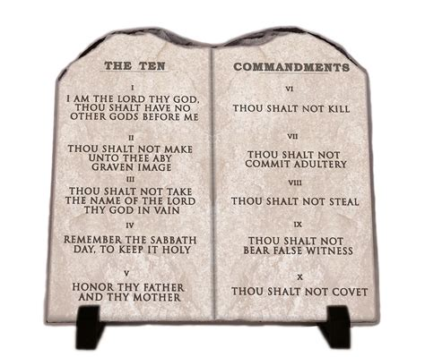 The Ten Commandments the ten commandments world bible slate home