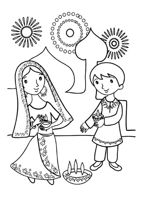 diwali coloring pages coloring home