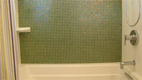 Mosaic Tile For Kitchen Backsplash Olive Green Brio Mosaic Glass Tile Pearl Modwalls