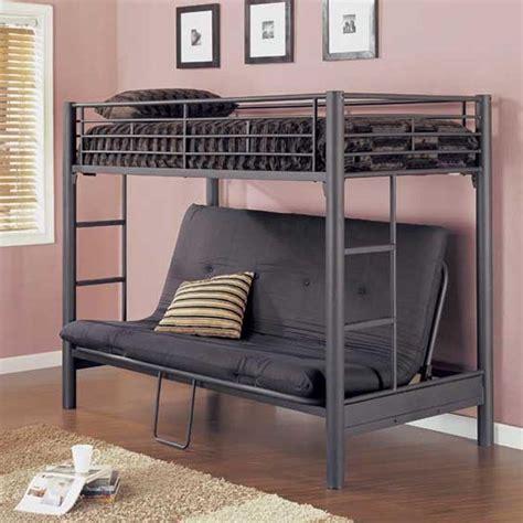 Size Loft Bed Futon by Loft Bed With Futon Dhp Futon Metal Bunk Bed Colors