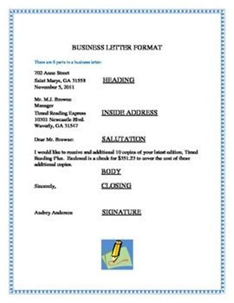 business letter format  business letter format shows