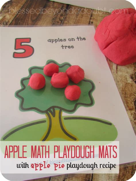 Playdough Mats by Free Apple Playdough Mats With Recipe Blessed Beyond A