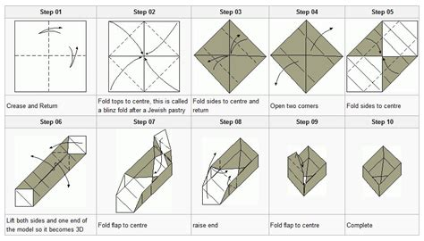 How To Fold A Paper 10 Times - how to fold an origami box origami gift boxes ten oclock