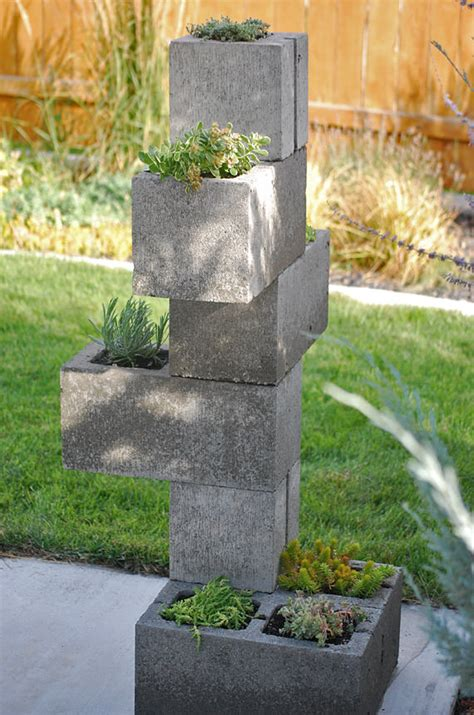 cinder block planters diy cinder block vertical planter the garden glove