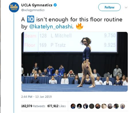 katelyn ohashi viral floor video of ucla gymnast katelyn ohashi s perfect 10 goes