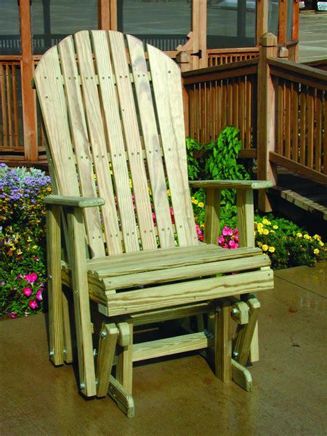 luxcraft wooden  adirondack glider  seasons furnishings handmade amish hardwood furniture