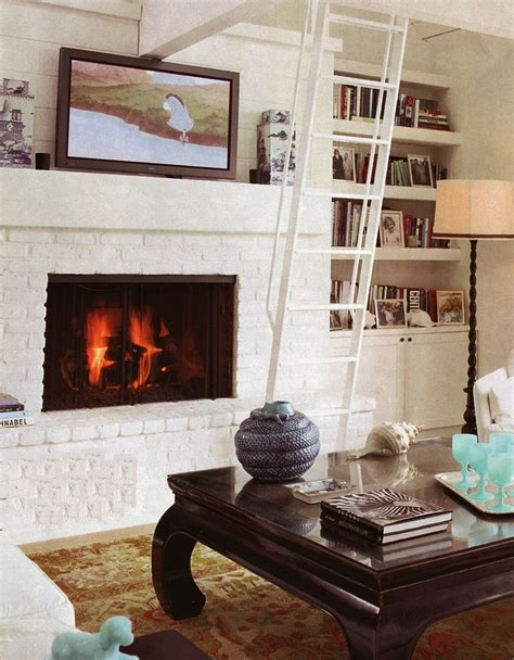 White Brick Fireplaces by White Brick Fireplace Bookshelves Living Room